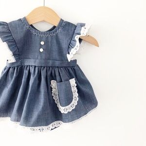 Vintage Baby Bliss Dress, Size 0-3 months